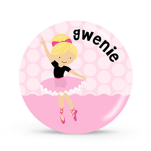 Ballerina - Personalized Plate For Kids