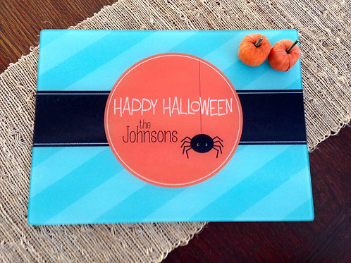 Itsy Spider - Personalized Halloween Cutting Board