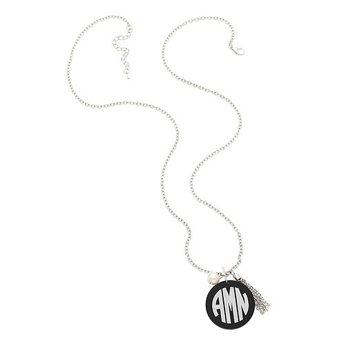 Long Charm Necklace-Personalized Monogram Jewerly