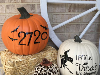 Personalized Vinyl Decals for Halloween