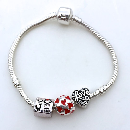 Love Is in the Air  - Charm Bead Bracelet