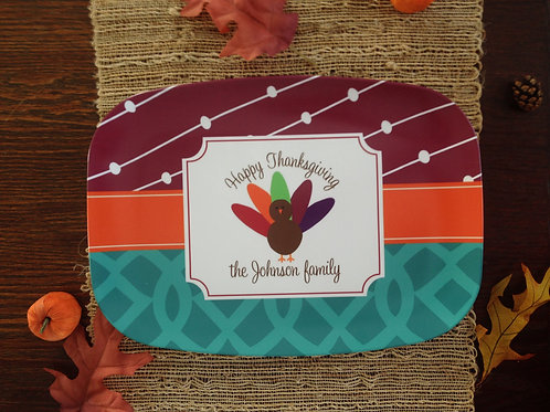 Gobbler - Personalized Thanksgiving Plate