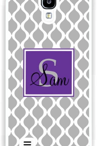 Gray Trellis - Personalized Samsung S4 Cases
