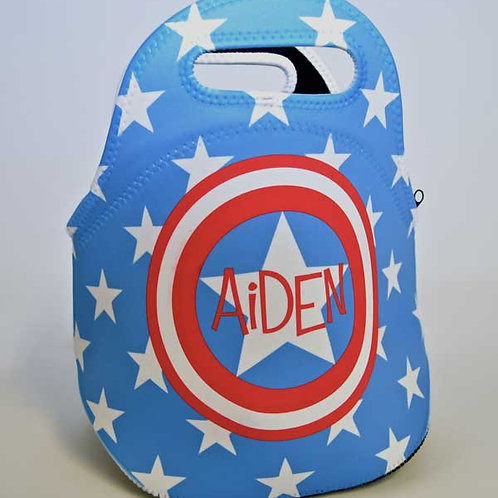 Captain America - Personalized Lunch Tote