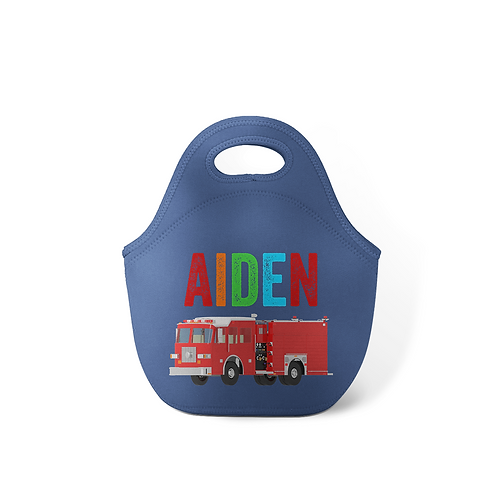 Firetruck - Personalized Lunch Tote