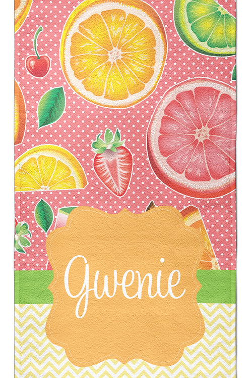 Fruit Salad - Personalized Beach Towel