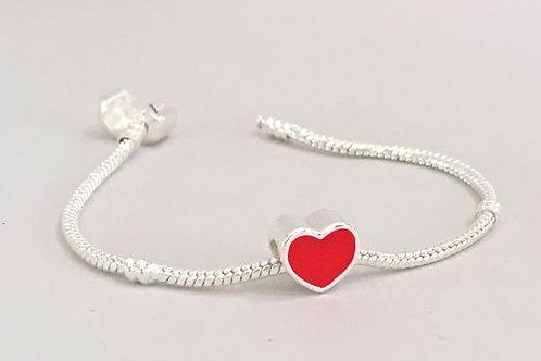 Heart- Charm Bead Bracelet