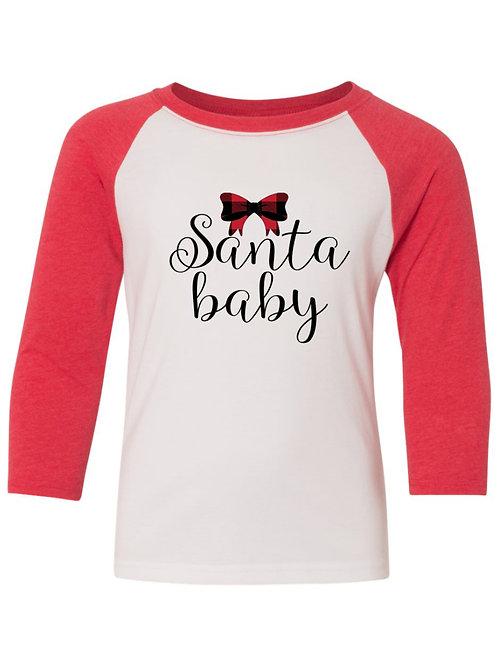 Santa Baby - Raglan Christmas Apparel