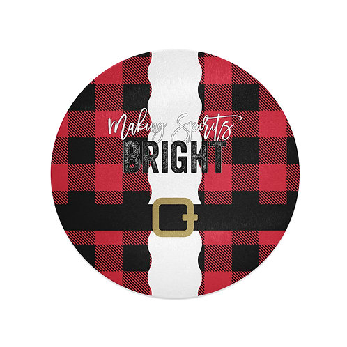 Making Spirits Bright - Personalized Glass Christmas Cutting Board