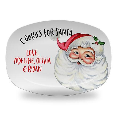 Classic Santa Cookies Platter
