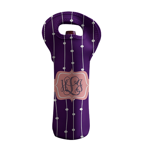Purple Vines - Personalized Wine Bottle Tote