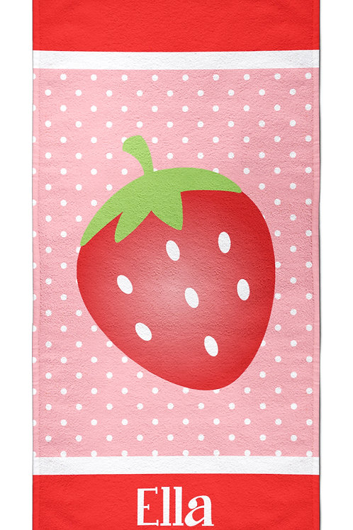 Strawberry - Personalized Beach Towel