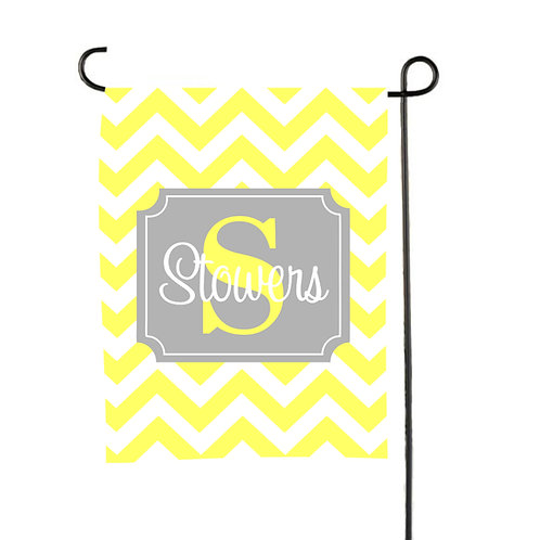 Canary Chevron  - Personalized Garden Flags