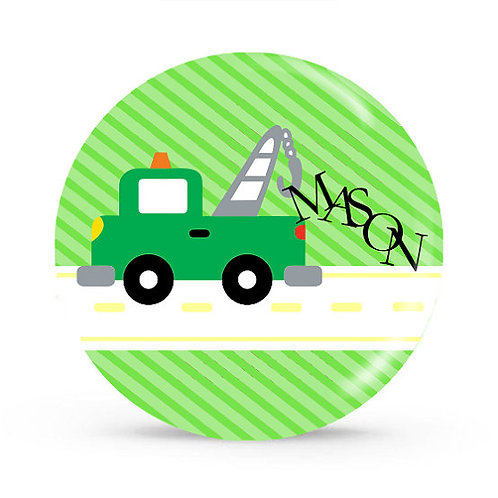 Tow Truck - Personalized Plate For Kids