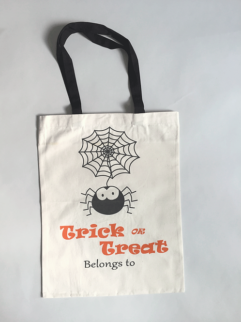 Candy Spider - Personalized Canvas Halloween Tote
