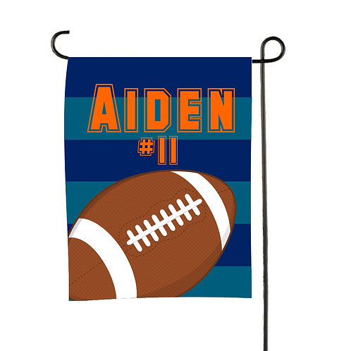 Play Ball  - Personalized Football Garden Flag