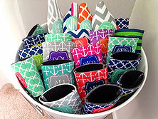 Personalized Monogram Can Cozies - Personalized Wedding Gifts