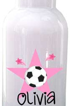 Soccer - Personalized Water Bottle Item #WB06