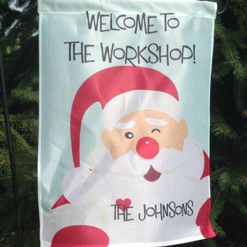 Santa's Workshop - Personalized Garden Flags