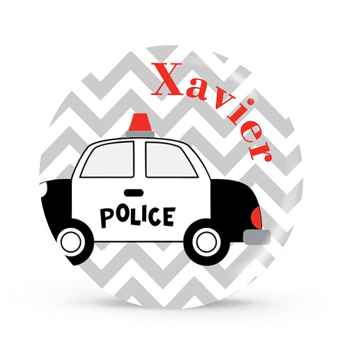 Police Car - Personalized Plate For Kids