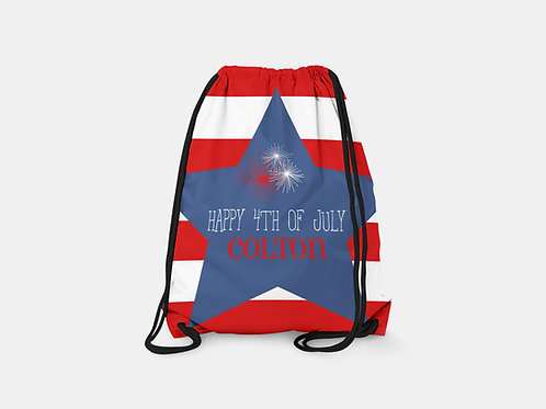 4th of July - Personalized Draw String Bag