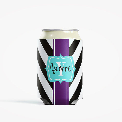 V Stripes  - Personalized Can Insulator Coolie