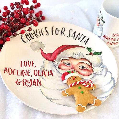 Cookies for Santa Set - Classic Santa