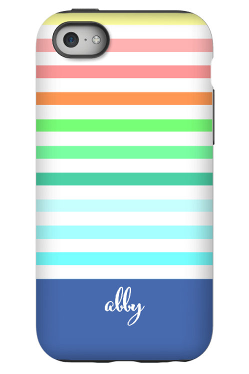 Rainbow Stripes - Personalized iPhone 7 Case