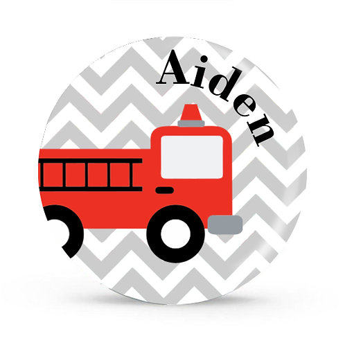 Firetruck - Personalized Plate For Kids