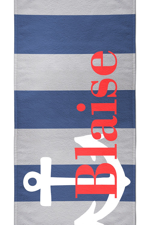 Anchor - Personalized Beach Towel