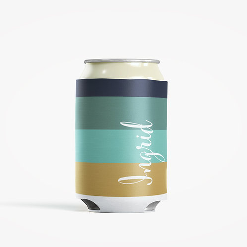 Metro Stripes - Personalized Can Insulator Coolie