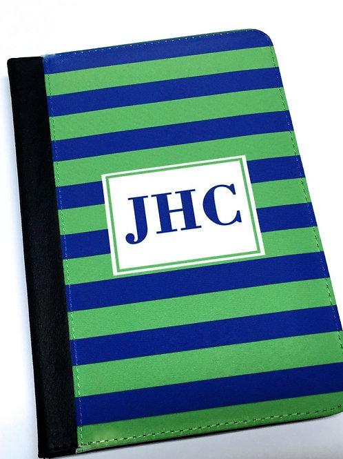 Personalized iPad Mini Folio Case - Blue Stripe