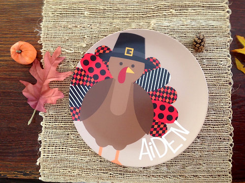 Mr. Turkey - Personalized Thanksgiving Plate