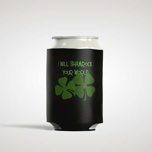 Shamrocks - Personalized Can Insulator Coolie
