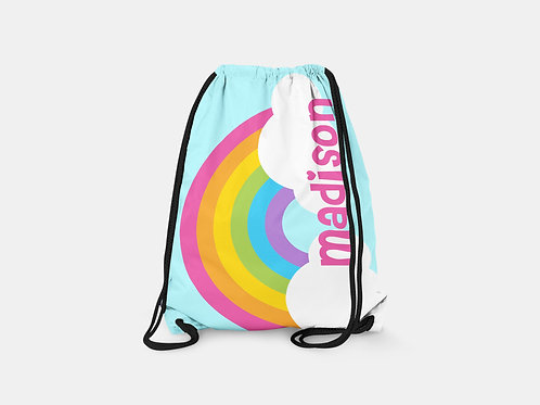 Over the Rainbow - Personalized Draw String Bag