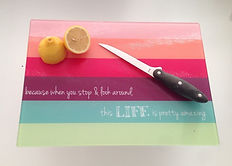 Personalized Tempered Glass Cutting Boards Personalized Housewares and Personalized Housewarming GIfts