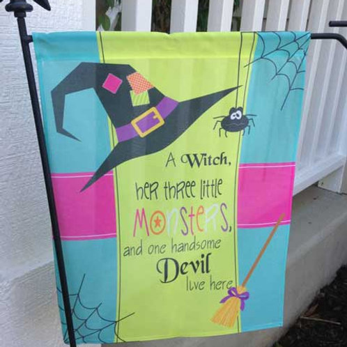 Halloween Sign - Personalized Garden Flags