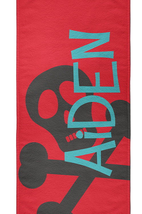 Skull - Personalized Beach Towel