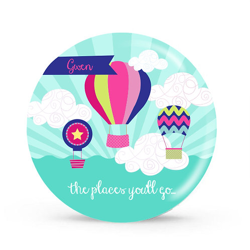 Balloons - Personalized Plate For Kids