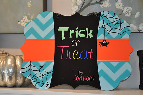 Tick or Treat  - Personalized Benelux wall sign