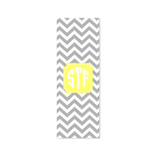 Gray Chevron - Personalized Monogram Yoga Mat