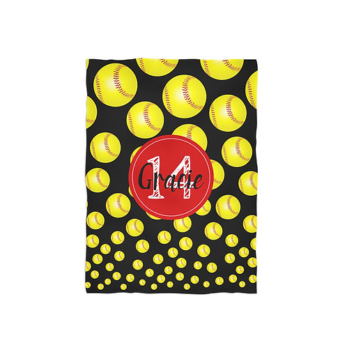 Softball Life - Personalized Throw Blanket