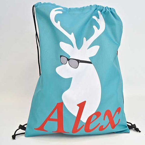 Cool Deer - Personalized Draw String Bag