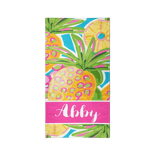 Pineapple - Personalized Beach Towel