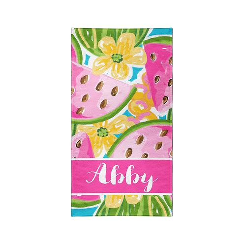 Watermelon - Personalized Beach Towel
