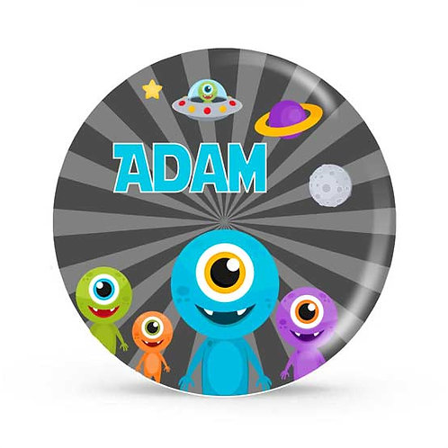 Alien - Personalized Plate For Kids
