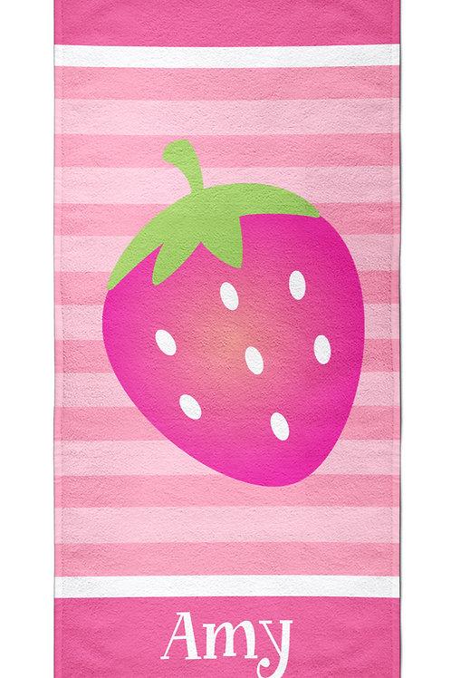 Strawberry - Personalized Beach Towel