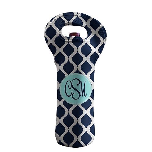 Blue Trellis - Personalized Wine Bottle Tote