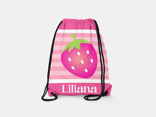 Strawberry - Personalized Draw String Bag