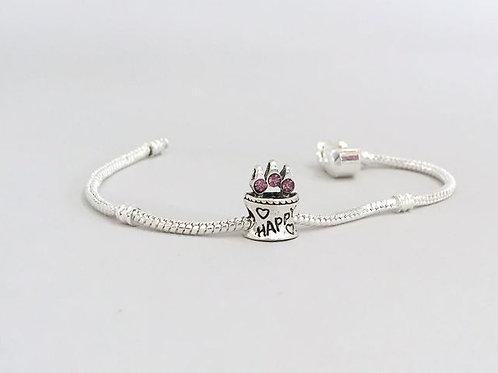 Birthday Cake - Charm Bead Bracelet